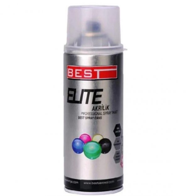 Best Elite 9007 Koyu Metal Gri Akrilik Sprey Boya 400 ml