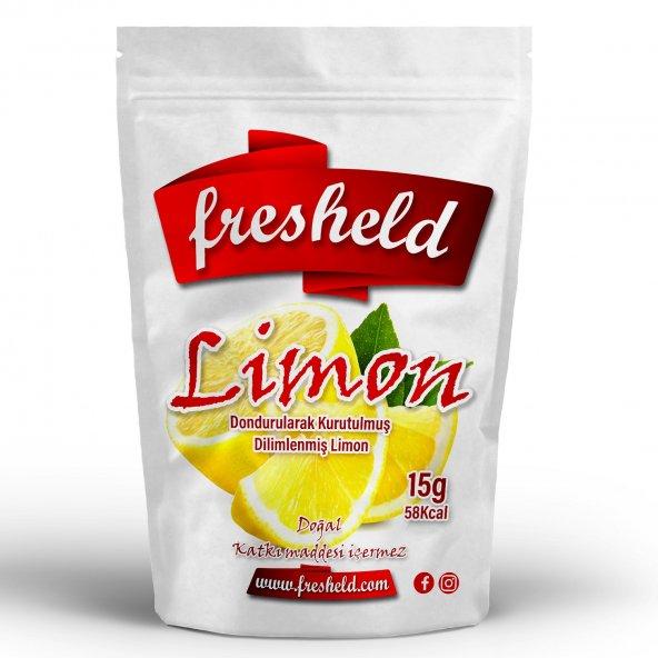 Fresheld Dondurularak Kurutulmuş Dilimlenmiş Limon 15gr