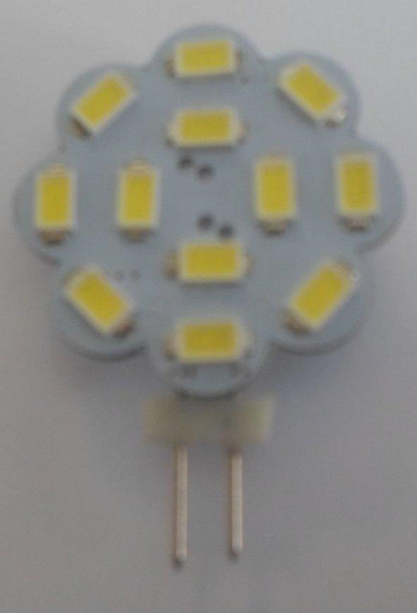 Beyaz 12PCS G4 Lamba 5630 Ledli