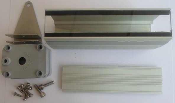 10cm 3-4 Led İçin / Wallwasher Kasa  Profil 8003