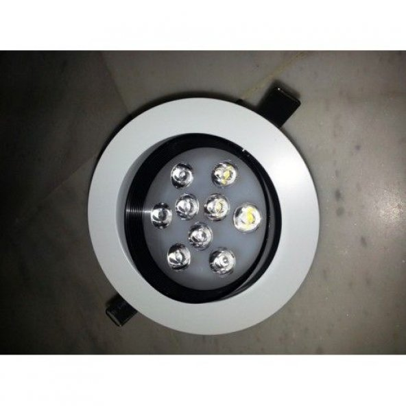 12 Watt Downlight Kasa+Pcb+Lens Beyaz Çerçeve