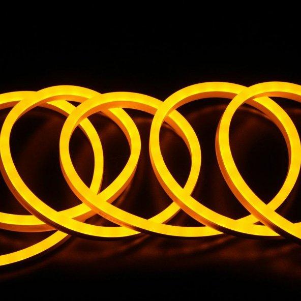 Sarı (Amber) Neon Led 12VAC 8x16mm 1S 10 Metre