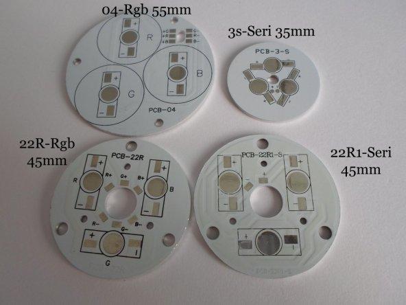 3 Lü Yuvarlak Powerled Pcbsi (Round Pcb) 04-RGB 55mm