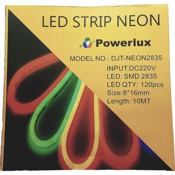 Powerlux Neon Led 220VAC 8x16mm 1S (10 Metre Paketli) Amber