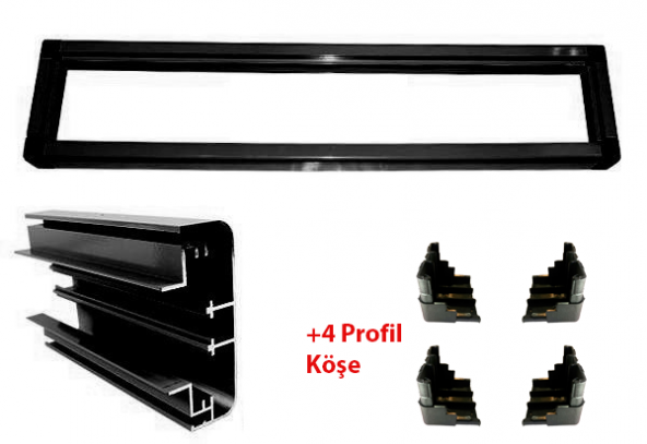 Kayan Yazı P10 Profil Alüminyum Kasa 208cm - 80cm
