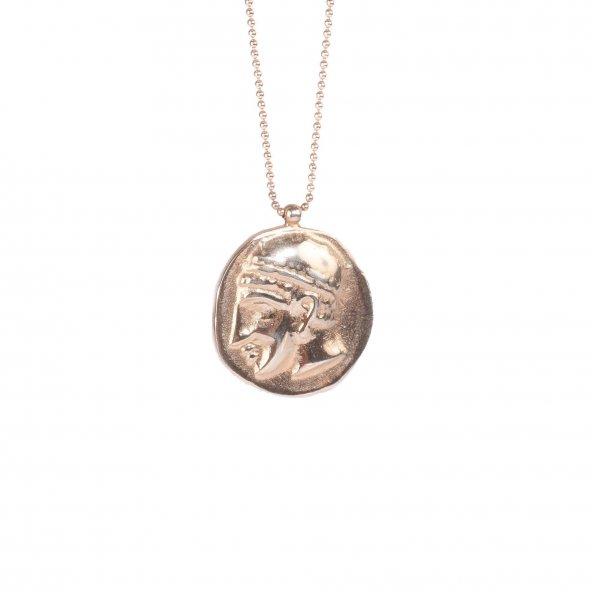 925 Ayar Gümüş Madalyon Kolye (Çapı 2,3 Cm Dir)