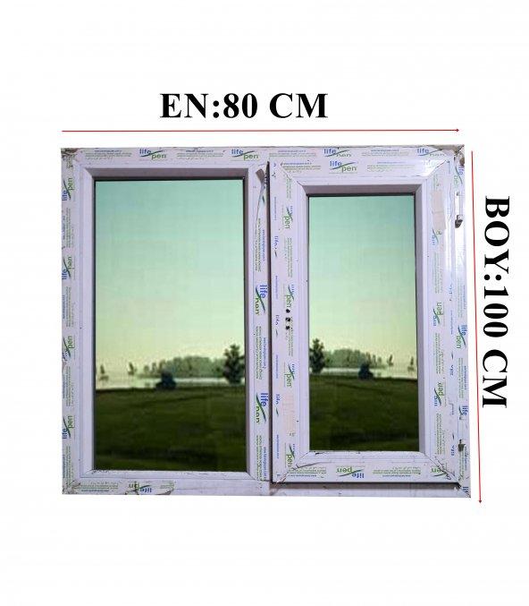 80X100 ISICAMLI PVC PENCERE