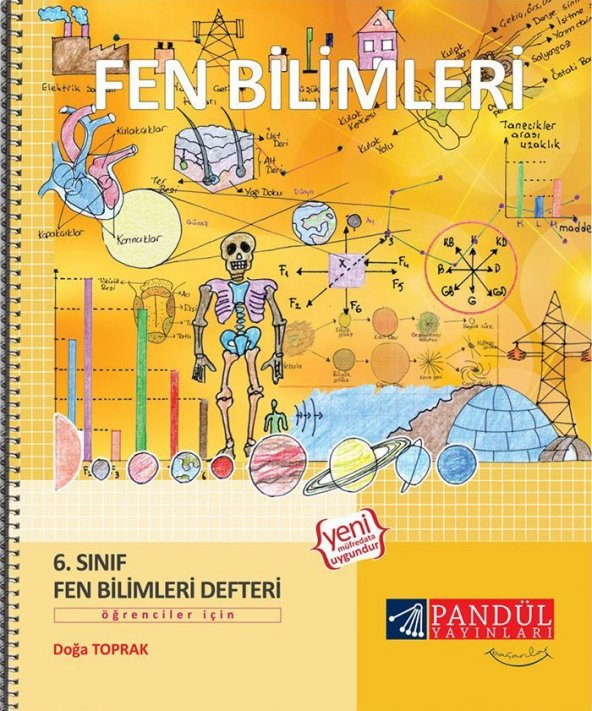 Pandül Yayınları 6. Sınıf Fen Bilimleri Defteri