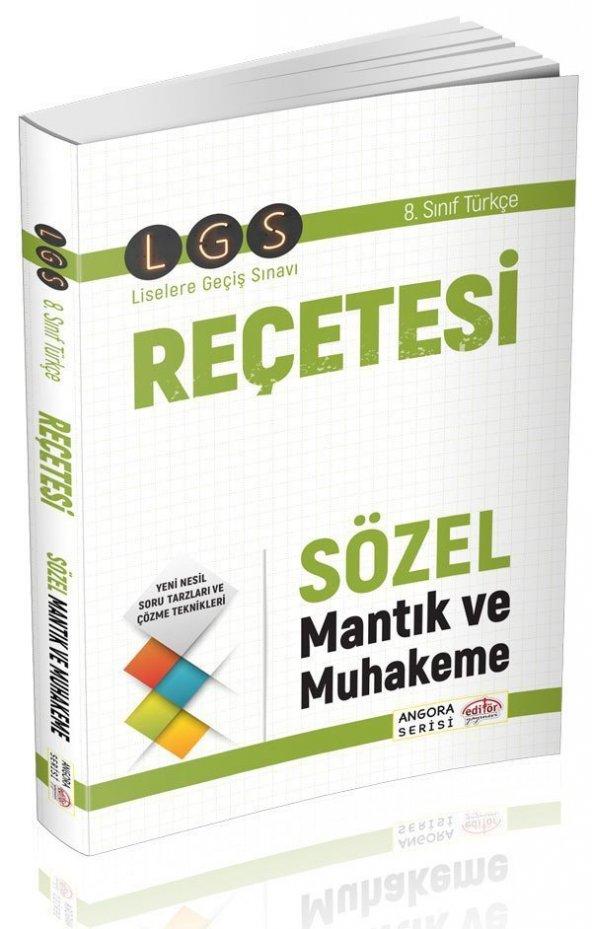 Editör Yayınları LGS Reçetesi Sözel ve Mantık Muhakeme