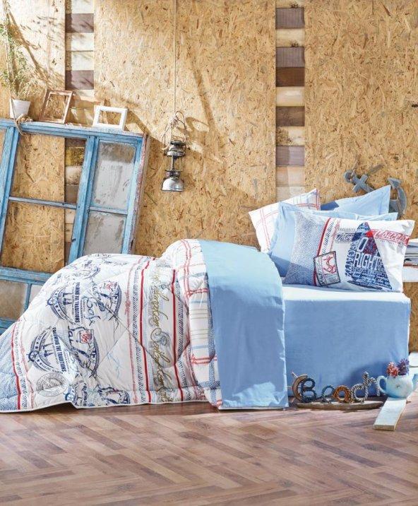 Cotton Box Maritime Çift Kişilik Uyku Seti - Seaport Mavi