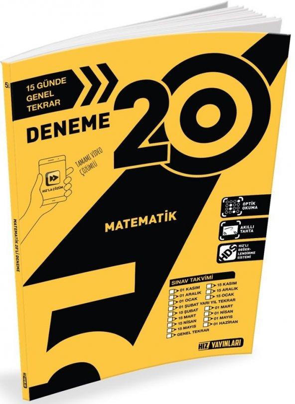 Hız Yayınları 5. Sınıf Matematik 20 li Deneme