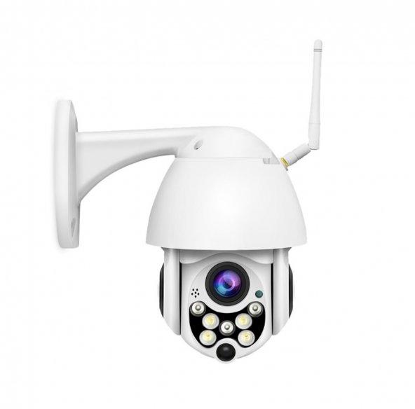 Olix 1080P HD Gece Görüşlü IP Kamera Motorlu Dış Mekan 320 Derece Dönerli