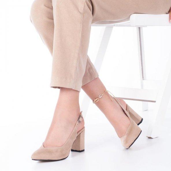 Aury Topuklu Ayakkabı Süet