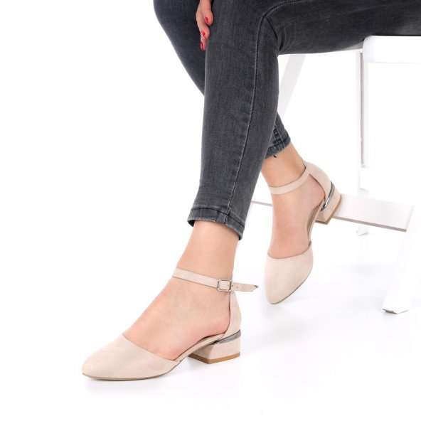 Alysum Topuklu Ayakkabı Süet