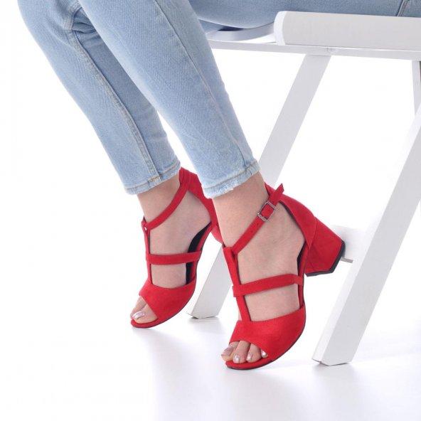 Magna Topuklu Ayakkabı Süet