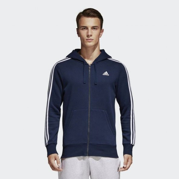 ADİDAS ESS 3S FZ B Erkek  Giyim Sweatshirt S98791 (Beden: M)
