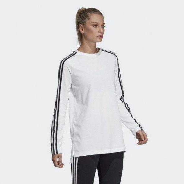 ADİDAS W MH 3S LS TEE Kadın  Giyim Tişört DV1500 (Beden: 2XS)