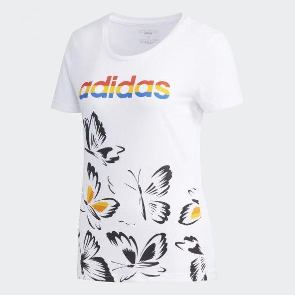 ADİDAS W FARM P TSHIRT Kadın  Giyim Tişört EI4828 (Beden: M)