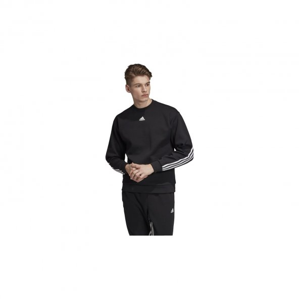 ADİDAS M MH 3S Crew Erkek  Giyim Sweatshirt DX7654 (Beden: L)