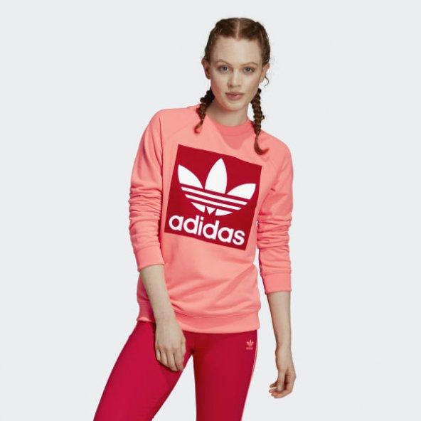 ADİDAS TREFOIL CREW Kadın  Giyim Sweatshirts ED7548 (Beden: 36)