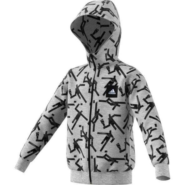ADİDAS YB ID GRFX HD Çocuk  Giyim Sweatshirts ED6416 (Beden: 7-8 yaş)