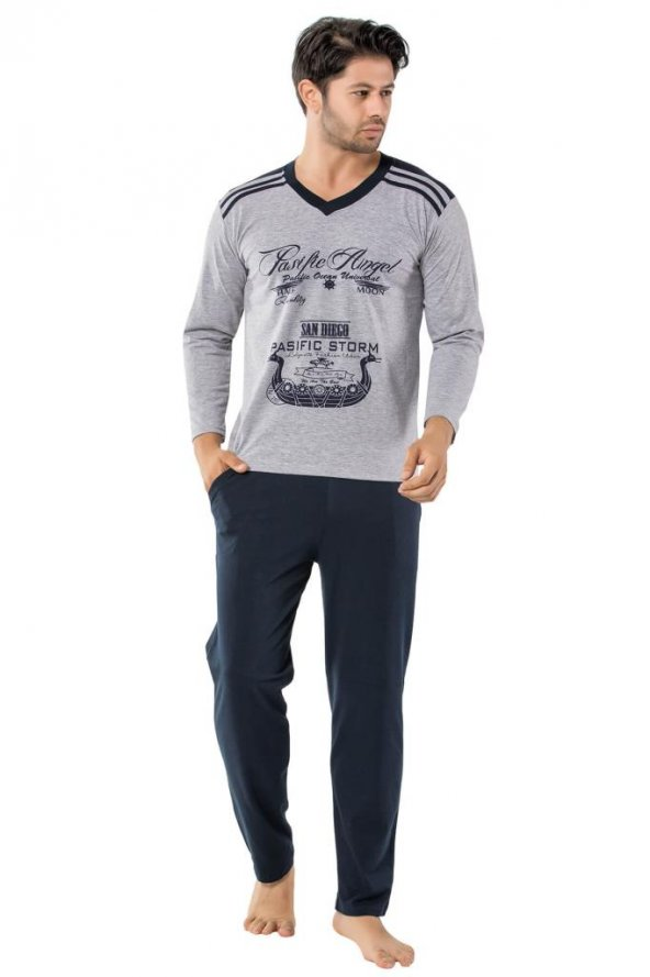 Sude Erkek Uzun Kol Pijama Takım SU0238
