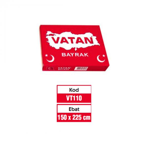 VATAN TÜRK BAYRAĞI 150x225 CM