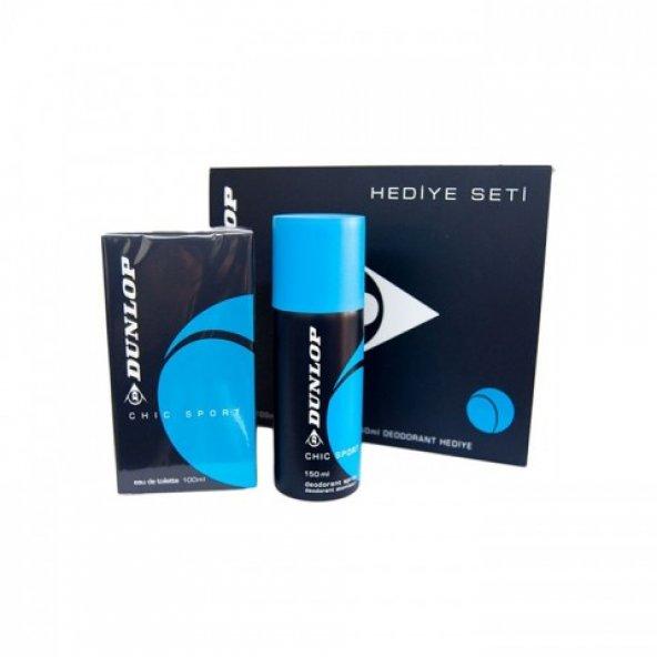 Dunlop Klasik Mavi Edt 100 ml + 150 ml Deodorant Erkek Parfüm Seti