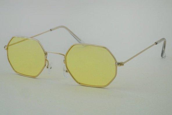 Sarı Sekizgen Gözlük