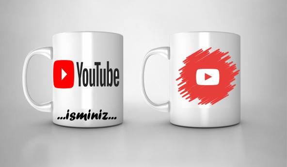 Youtube,Youtuber,İsim&Kanal Link - Özel Kupa Bardak HD Baskı