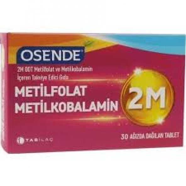 Osende 2M Metilfolat Metilkobalamin 30 Tablet skt: 06/2022