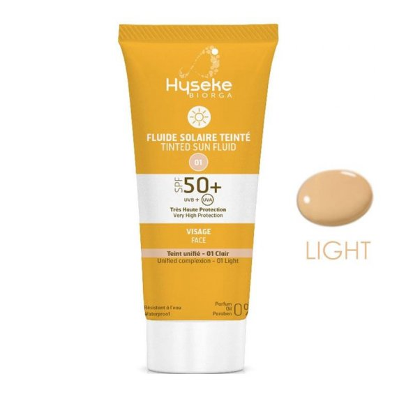 Hyseke Biorga Tinted Sun Fluid 01-Light SPF50+ 40ml