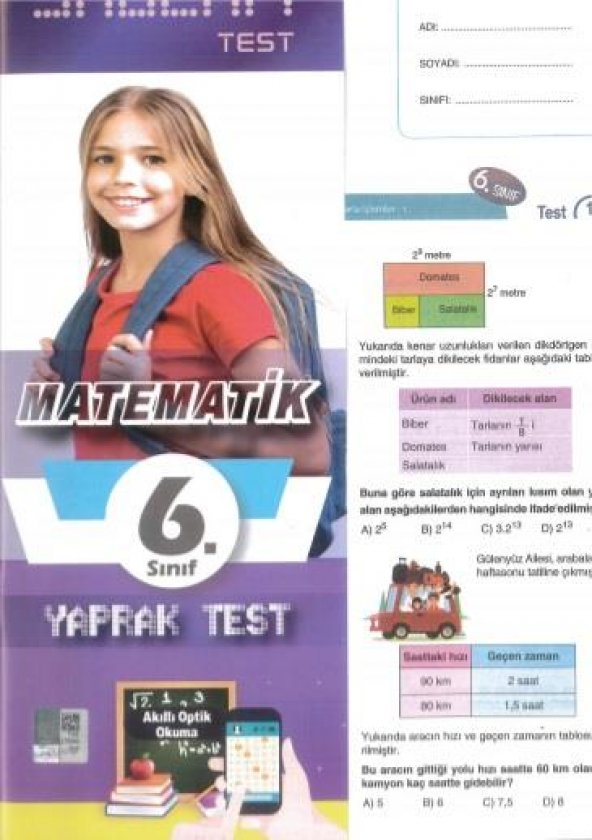 Molekül 6. Sınıf Matematik Yaprak Test