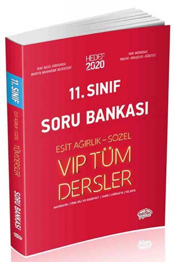 11. Sınıf VIP Tüm Dersler Eşit Ağırlık Sözel Soru Bankası Editör Yayınları