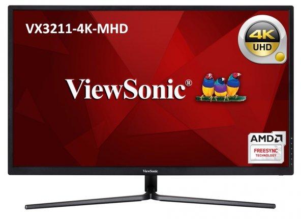 ViewSonic 32 VX3211-4K-MHD 4K 3840X2160 2xHDMI+DP HDR10 EĞLENCE TASARIM MONİTÖRÜ