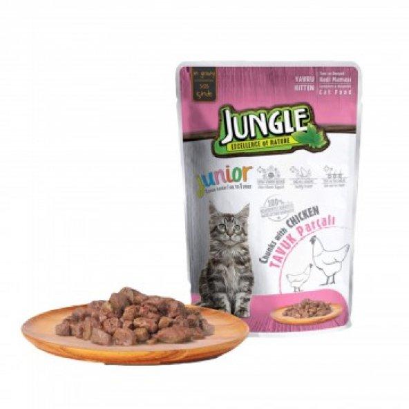 Jungle Tavuk Parçalı Yavru Kedi Maması 100 gr
