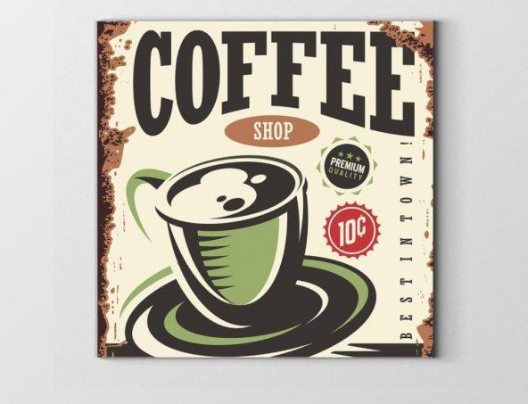 Coffee Vintage Reklam Afişi Tablosu