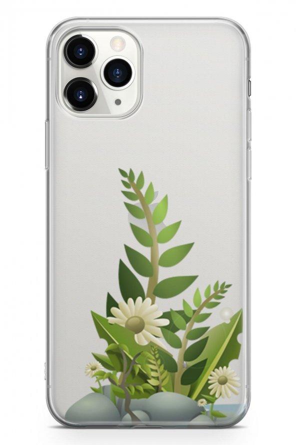 Apple İphone 11 Pro Max Kılıf Silikon Arka Kapak Koruyucu Tropik