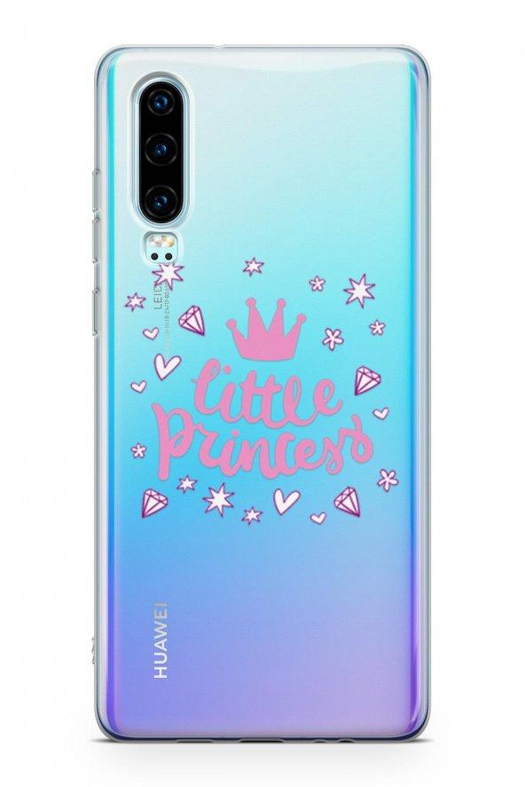 Huawei P30 Kılıf Silikon Arka Kapak Koruyucu Küçük Prenses Desenl