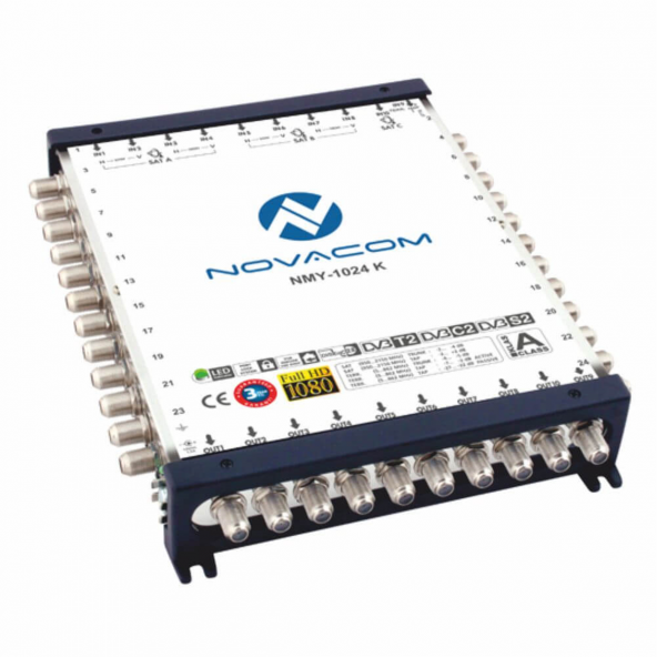 Novacom 10/24 Kaskatlı Multiswitch Uydu Santrali