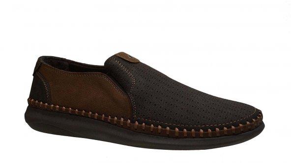 Ustalar Ayakkabı 214 Erkek Tek İğne Poli Taban Bağsız Çarık Ayakk