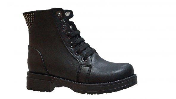 Ustalar Ayakkabı 051.102 Çocuk Postal (27-30) Cilt Taşlı Bağcıklı