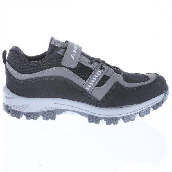 Slazenger SA29OF014-500 Agus Çocuk Siyah Spor Ayakkabı