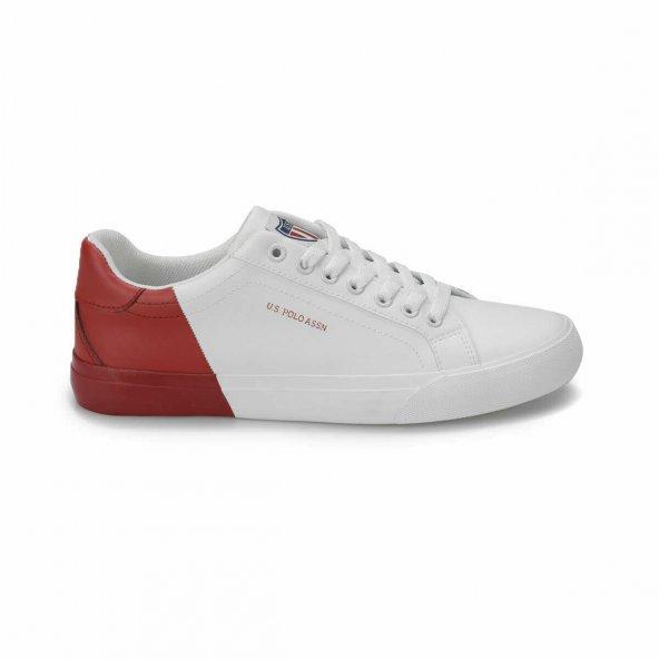 Polo Lexi Kadın Beyaz-Kırmızı Sneaker Ayakkabı