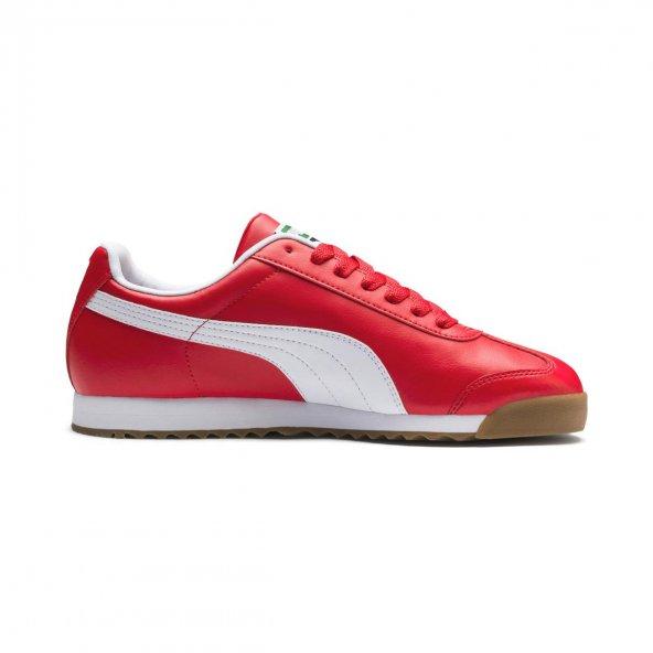 Puma Roma Basic 353572 96 Erkek Kırmızı-Beyaz Spor Ayakkabı