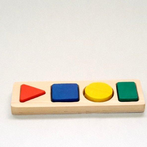 Bultak Eğitici Ahşap Oyuncak 4lü - Renkli