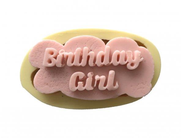 Birthday Girl Yazılı Silikon Pasta ve Seker Hamuru Kalibi 8x4x1 cm