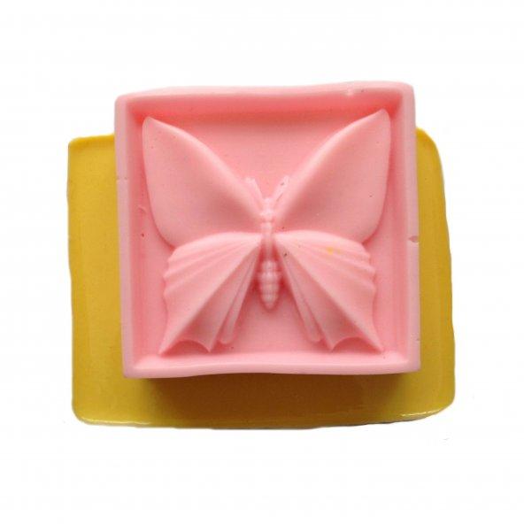 Kelebek Şeklinde Silikon Pasta ve Seker Hamuru Kalibi 5,5x5,5x1,5 cm