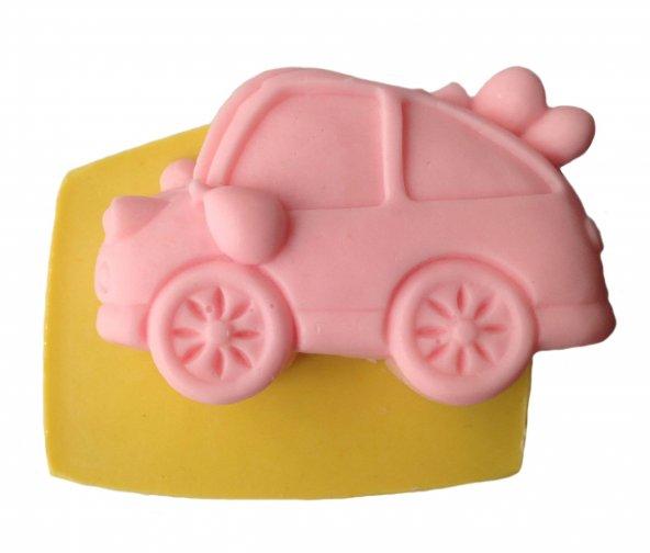 Araba Şeklinde Silikon Pasta ve Seker Hamuru Kalibi 8,5x5x2,5 cm