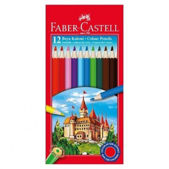 Faber-Castell Karton Kutu Boya Kalemi 12 Renk Tam Boy